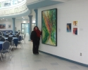 Live painting hanging at King's University